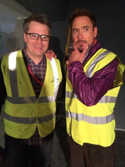 Robert Downey Jr. Avengers Age of Ultron Set Photo