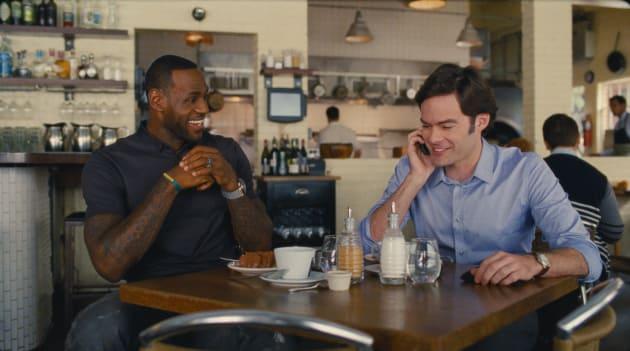 Bill Hader & LeBron James Share a Moment