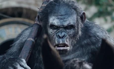 Dawn of the Planet of the Apes Clip: Do Not Come Back!