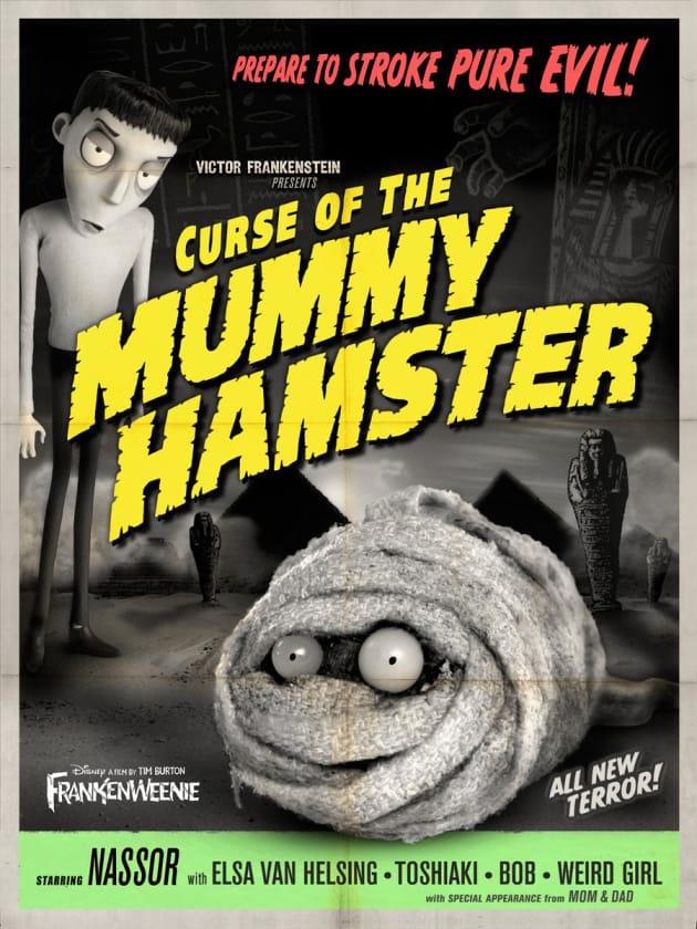 Frankenweenie Mummy Hamster Monster Poster