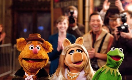 Fozzie, Kermit and Miss Piggy in The Muppets