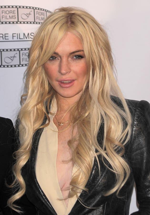 Lindsay Lohan at the Gotti Press Conference