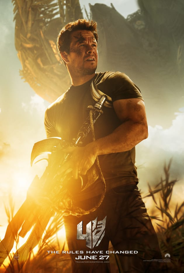 Transformers Age of Extinction Mark Wahlberg Poster