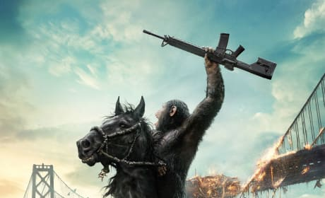 Dawn of the Planet of the Apes Poster: Caesar Welcomes a Boy!