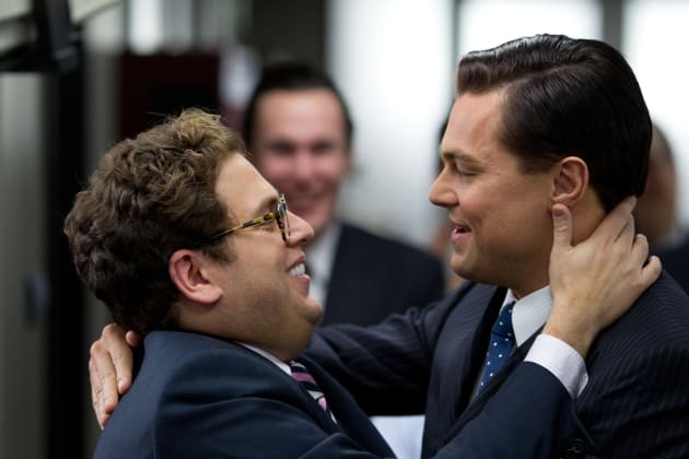 Jonah Hill Leonardo DiCaprio The Wolf of Wall Street