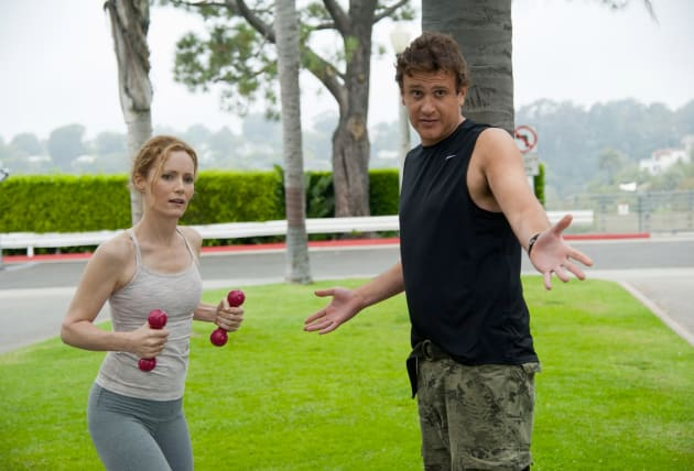 Leslie Mann and Jason Segel This is 40