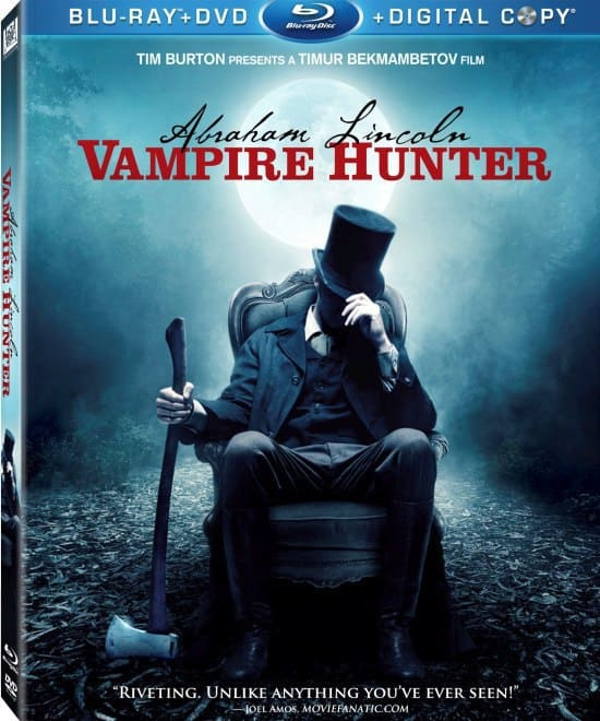 Movie Fanatic on Abraham Lincoln: Vampire Hunter Blu-Ray Cover