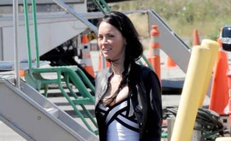 Megan Fox on the Set