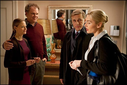 Jodi Foster, John C Reilly, Christoph Waltz and Kate Winslet in Carnage