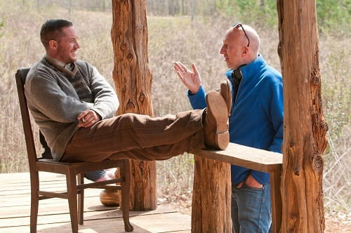 Tom Hardy and John Hillcoat in Lawless