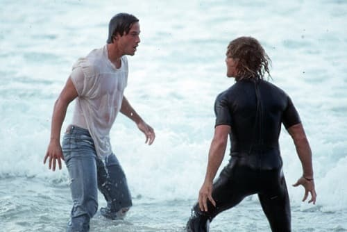 Patrick Swayze and Keanu Reeves in Point Break