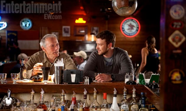 Clint Eastwood and Justin Timberlake in Trouble with the Curve