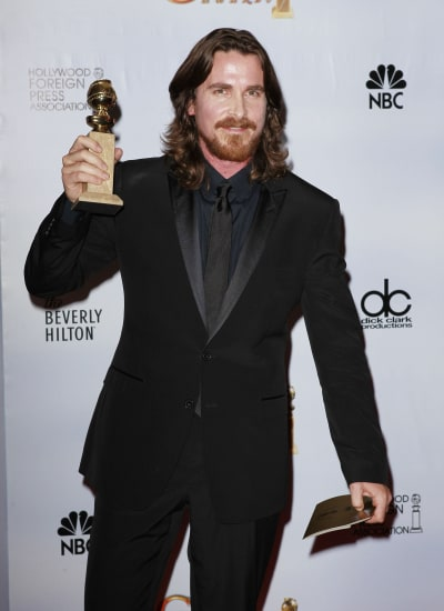 Christian Bale at the Golden Globes