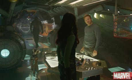 Guardians of the Galaxy Chris Pratt Zoe Saldana Dave Bautista