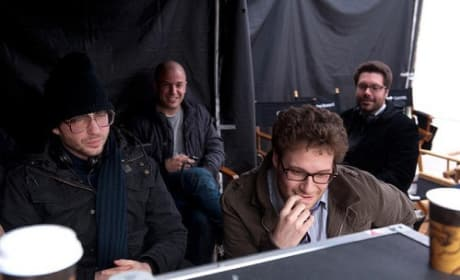 Seth Rogen on the set of 50/50