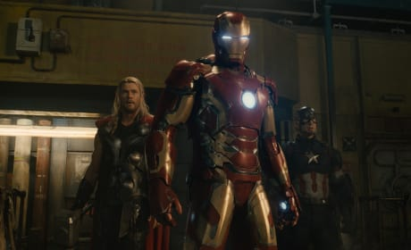 Avengers Age of Ultron Chris Evans Chris Hemsworth Robert Downey Jr.