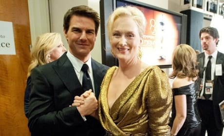 Tom Cruise and Meryl Streep Backstage at Oscars