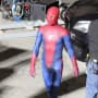 Andrew Garfield on Set of Spider-Man