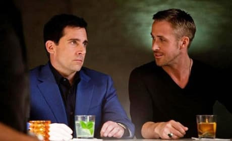 Steve Carell and Ryan Gosling in Crazy Stupid Love