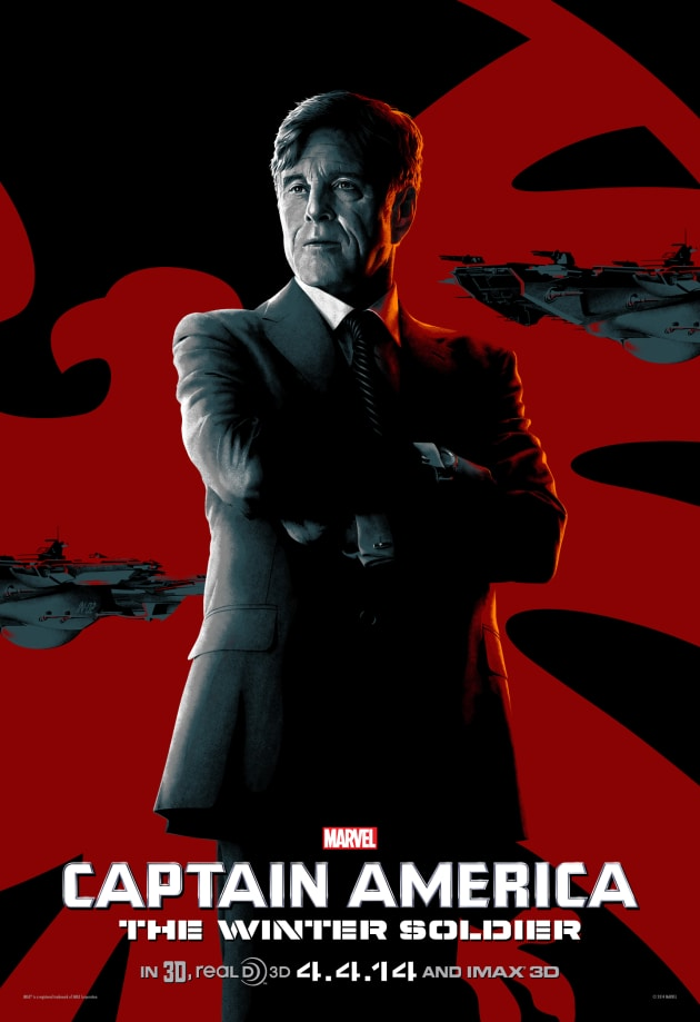 Captain America The Winter Soldier Robert Redford IMAX Poster