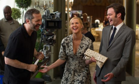 Trainwreck Set Photo Amy Schumer Bill Hader Judd Apatow