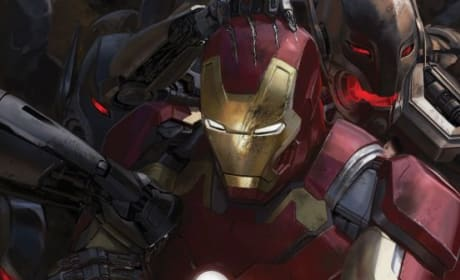 Avengers Age of Ultron Concept Art: Iron Man Fights Ultron