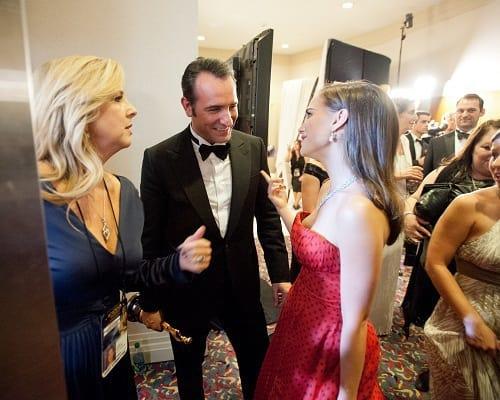 Jean Dujardin and Natalie Portman Backstage at Oscars