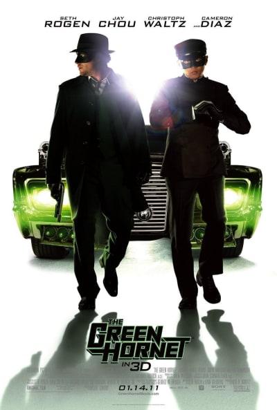 The Green Hornet White Poster