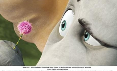 Horton examines a clover