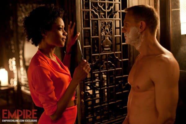 Naomie Harris and Daniel Craig in Skyfall