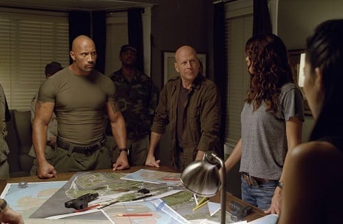 Bruce Willis Dwayne Johnson G.I. Joe Retaliation