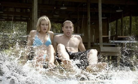 Sara Paxton and Dustin Milligan in Shark Night 3D