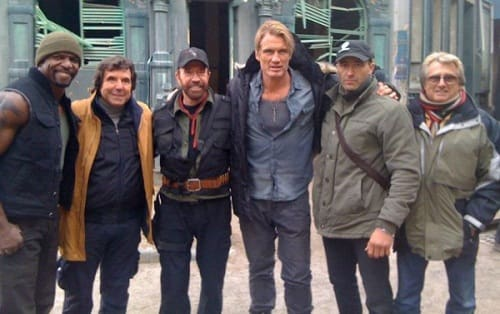 Chuck Norris on The Expendables 2 Set
