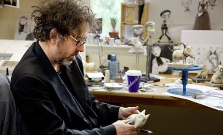 Tim Burton Works on Frankenweenie