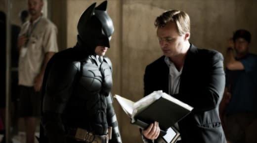 The Dark Knight Christian Bale Christopher Nolan Set Photo