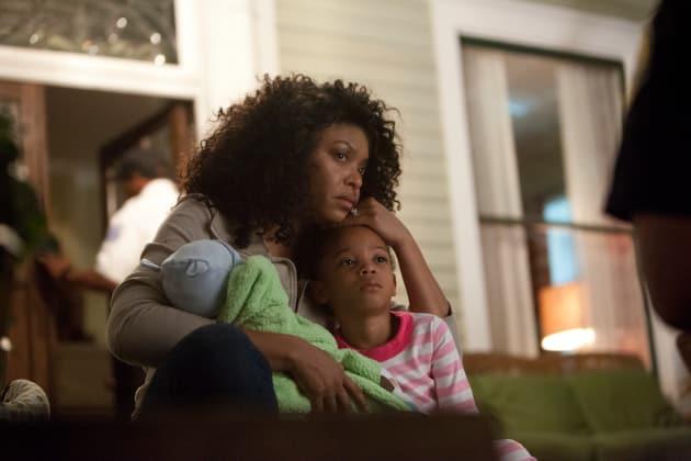 Taraji Comforts Her Son