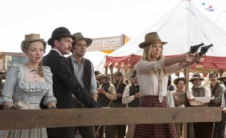 A Million Ways to Die in the West Photo: Charlize Theron Takes Aim