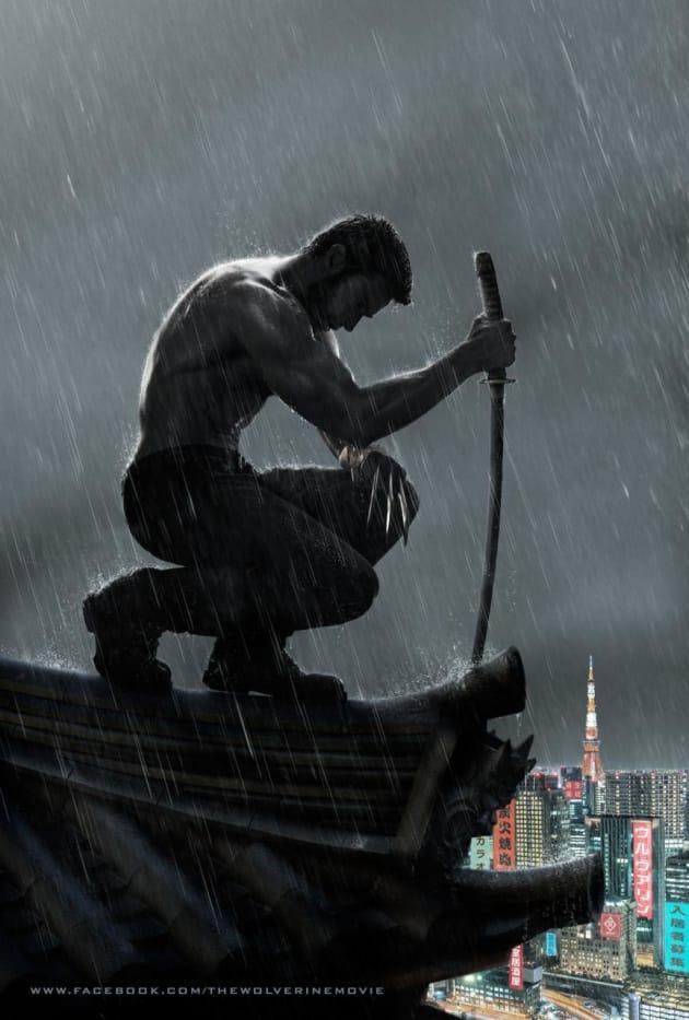 The Wolverine Rain Poster