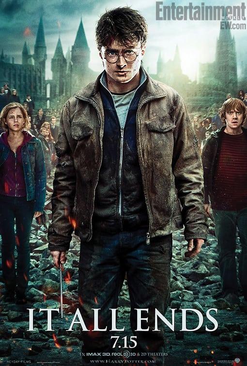Deathly Hallows Trio Poster