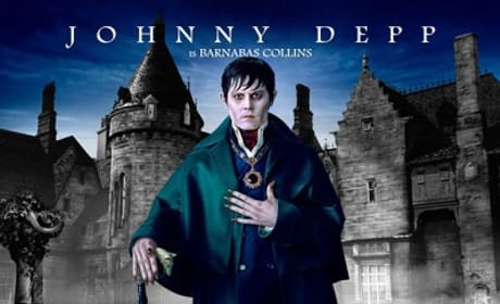 Dark Shadows Johnny Depp Character Poster