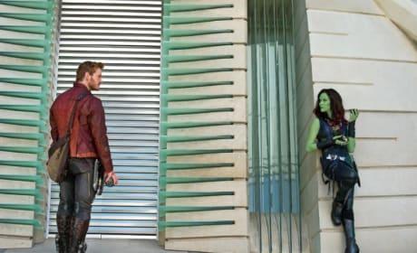 Zoe Saldana Chris Pratt Guardians of the Galaxy
