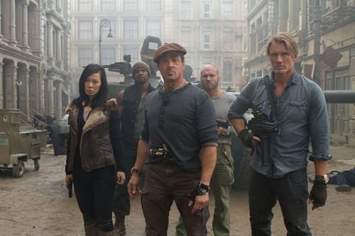 Sylvester Stallone and Dolph Lundgren in The Expendables 2