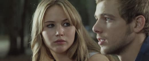 Jennifer Lawrence and Max in Thieriot House at the End of the Street