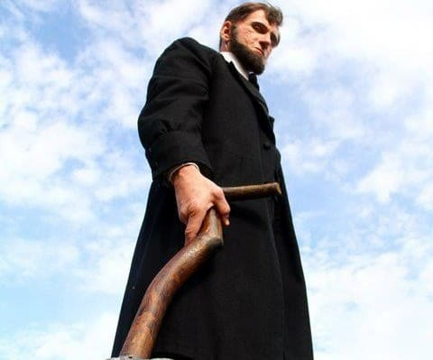 Benjamin Walker is Abraham Lincoln in Abraham Lincoln: Vampire Hunter
