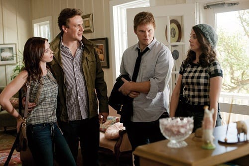 Emily Blunt, Jason Segel, Chris Pratt and Alison Brie in The Five Year Engagement