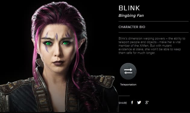 X-Men Days of Future Past Blink Bio Banner