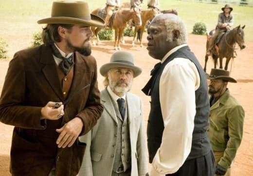 Leonardo DiCaprio, Christoph Waltz & Samuel L. Jackson Django Unchained
