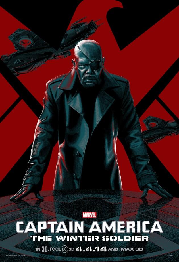 Captain America The Winter Soldier Samuel L. Jackson IMAX Poster