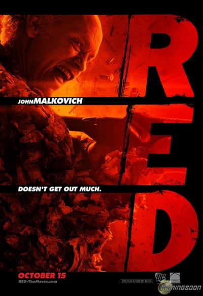 Red Character Poster- John Malkovich