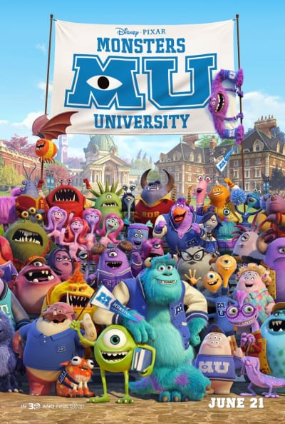 Monsters University Ensemble Poster